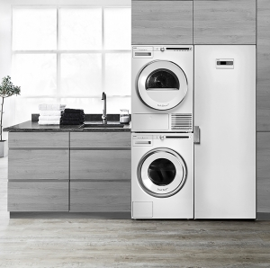 Asko комплект в колонну (стиральная и сушильная машины + сушильный шкаф)